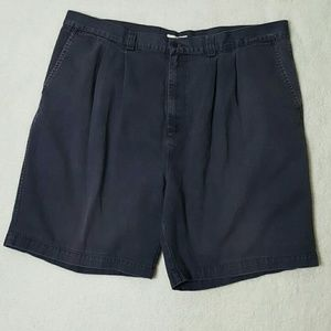 Men's GAP Relaxed Fit Navy Twill Pleated Shorts 42